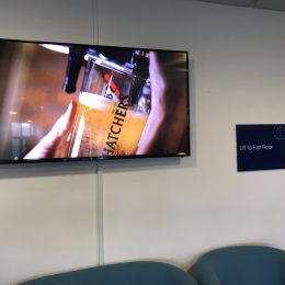 Commercial TV Screen wall mounting in Bristol